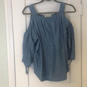 Madewell off the shoulder long sleeve top
